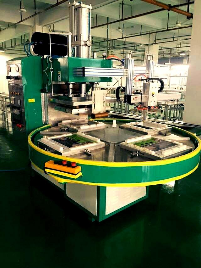 PLC四工位自动转盘高周波熔断机(带机械手)- 12KW