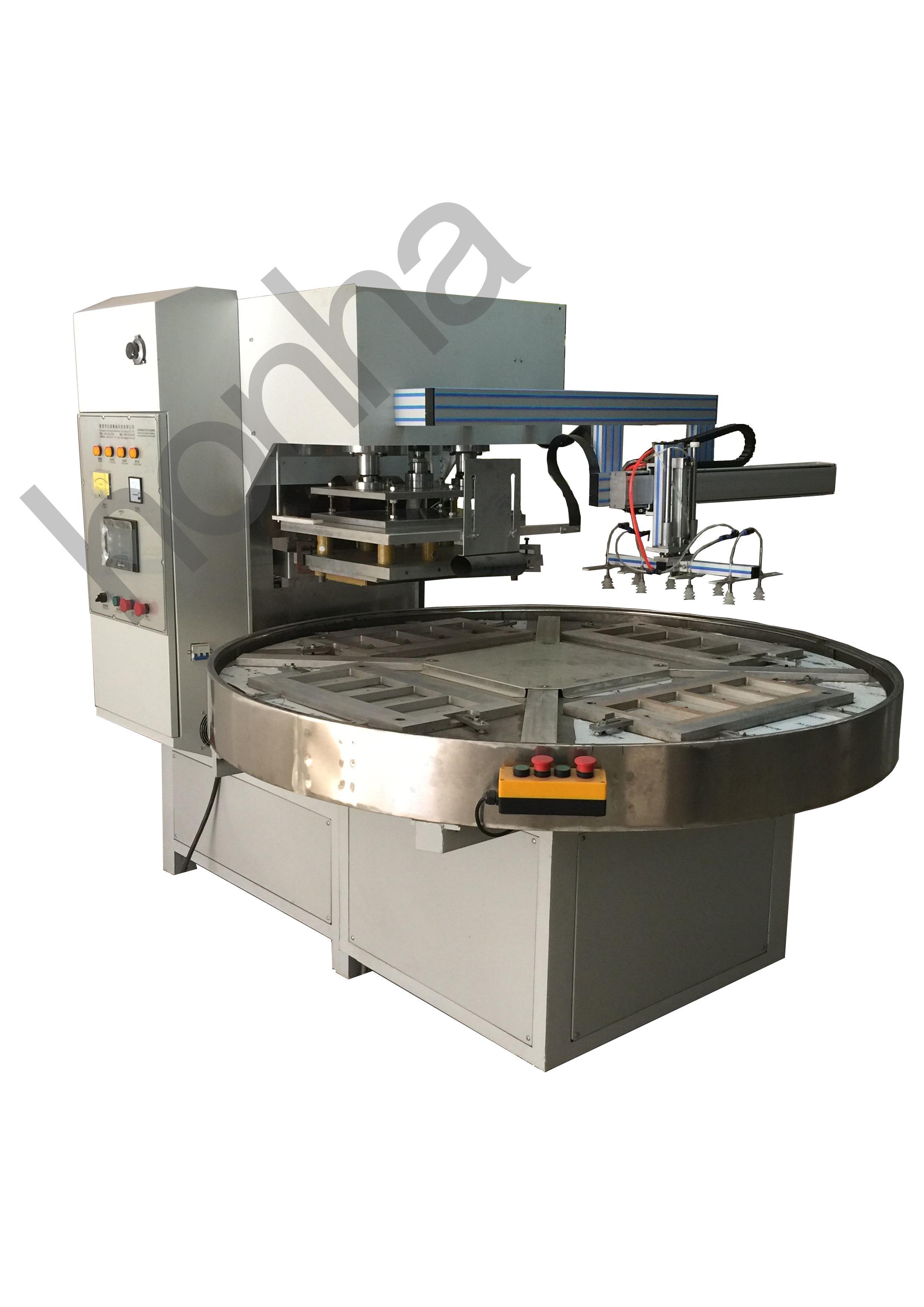 全自动转盘式高周波熔断机(带机械手取料)